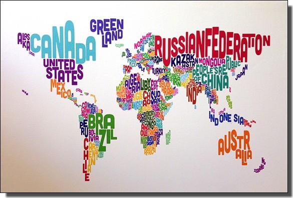 英語の世界地図