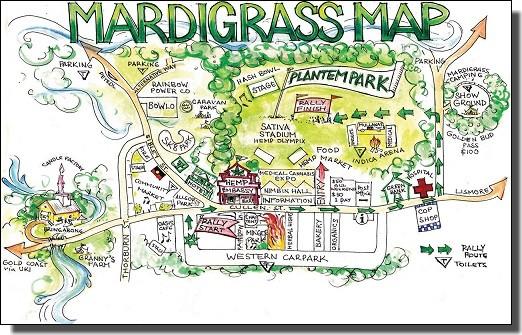 マルディグラス地図