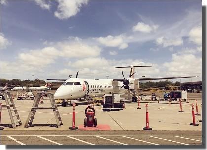 ハワイ旅行記の飛行機