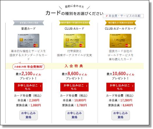 JALカードのキャンペーン