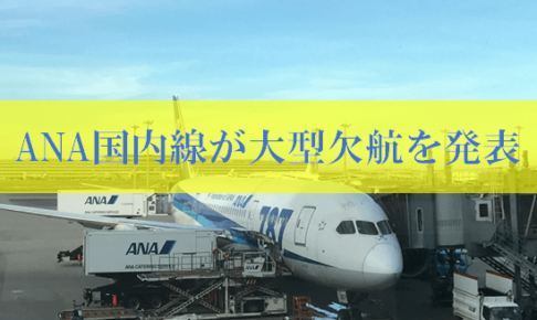 ANA国内線欠航の最新情報