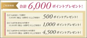 6,000ポイント
