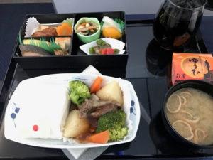 ANA国際線ビジネスクラスの機内食