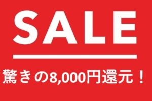 陸マイラ―祭りで8,000円還元が壮絶