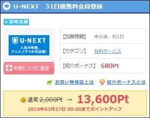 U-NEXTの31日間無料登録