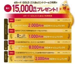 最大15,000円還元のキャンペーン