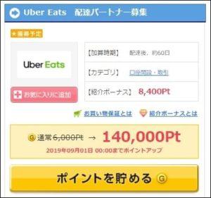 UberEatsの配達