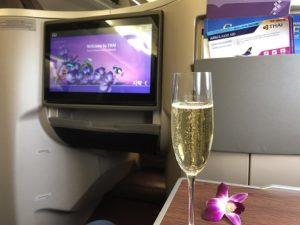 タイ航空ビジネスクラスの機内食や飲み物