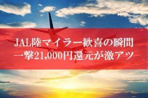 JAL陸マイラーの裏技がアツい