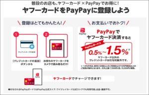 PayPayにチャージできる