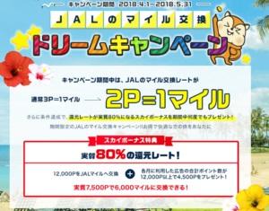 JALマイルのキャンペーン
